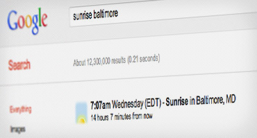 Prepárate para tu viaje con estos trucos de Google - sunrise-times