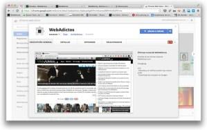Instala la nueva extensión de WebAdictos para Google Chrome y no te pierdas de ninguna noticia