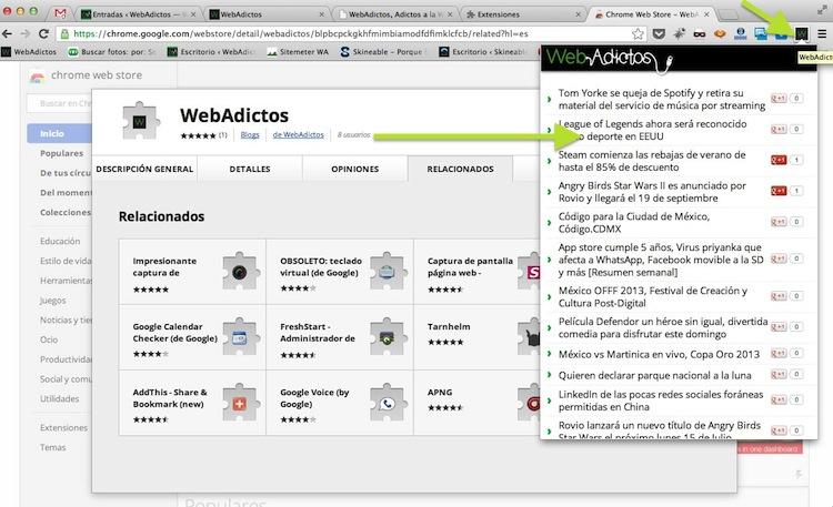 Instala la nueva extensión de WebAdictos para Google Chrome y no te pierdas de ninguna noticia - webadictos-google-chrome-4