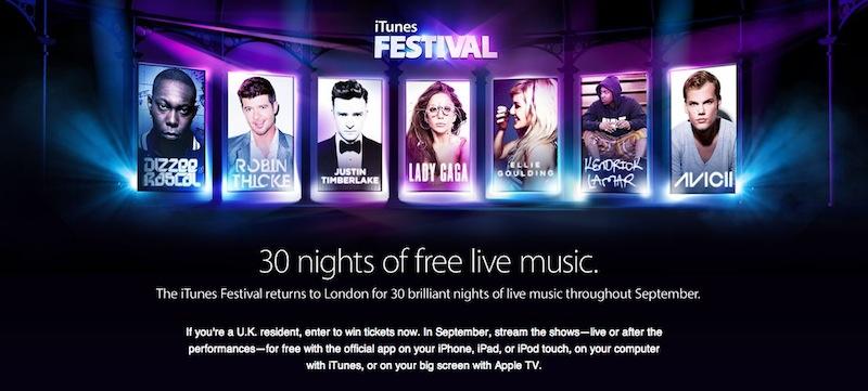 iTunes Festival 2013 en vivo desde Londres - iTunes-Festival