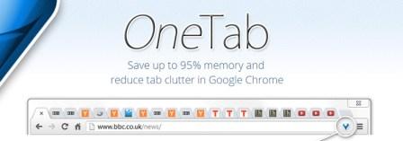 One Tab, permite para reducir el consumo de memoria RAM al utilizar Google Chrome