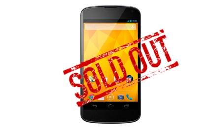 Nexus 4 fuera de abastecimiento ante la inminente llegada del Nexus 5