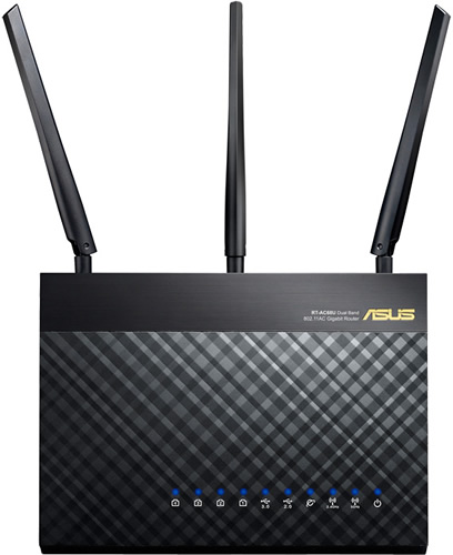 Nuevo Router Doble banda Gigabit RT-AC68U Wireless-AC1900 de ASUS - RT-AC68U-ASUS