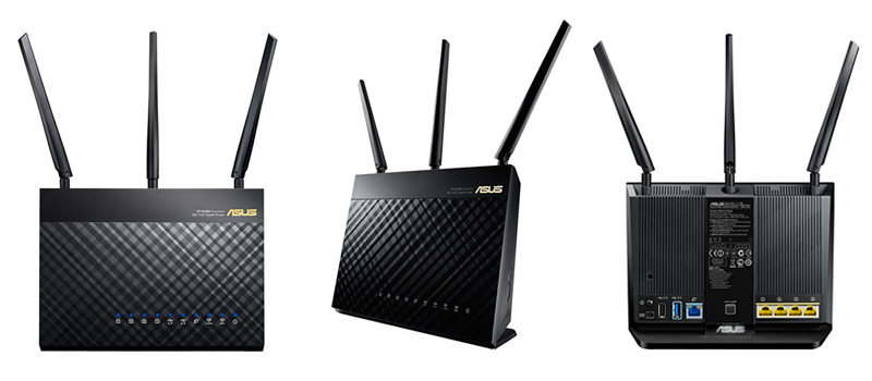 Nuevo Router Doble banda Gigabit RT-AC68U Wireless-AC1900 de ASUS - RT-AC68U