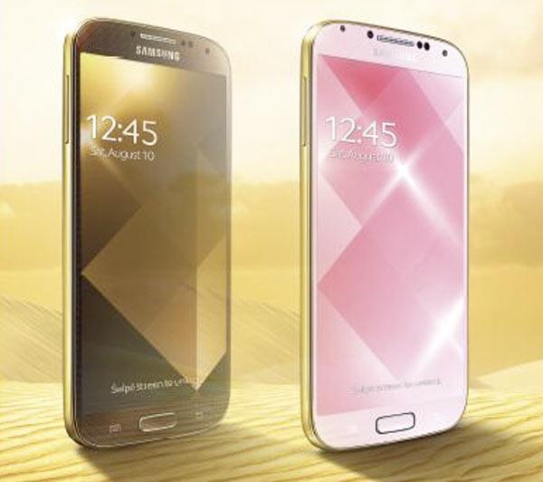 Samsung presenta su Galaxy S4 dorado imitando los pasos de Apple - Samsung-Galaxy-S4-dorado