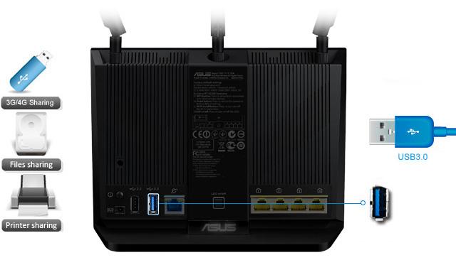 almacenamiento nube router asus Nuevo Router Doble banda Gigabit RT AC68U Wireless AC1900 de ASUS