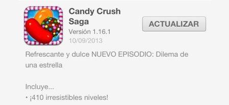 Candy Crush para iOS se actualiza y añade un nuevo episodio