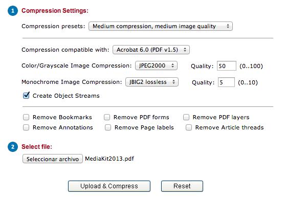 Reducir archivos PDF de tamaño, online y gratis en estos sitios - comprimir-pdf