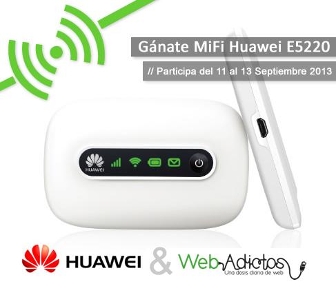 Gana un MiFi – Hotspot móvil con WebAdictos y Huawei Device MX