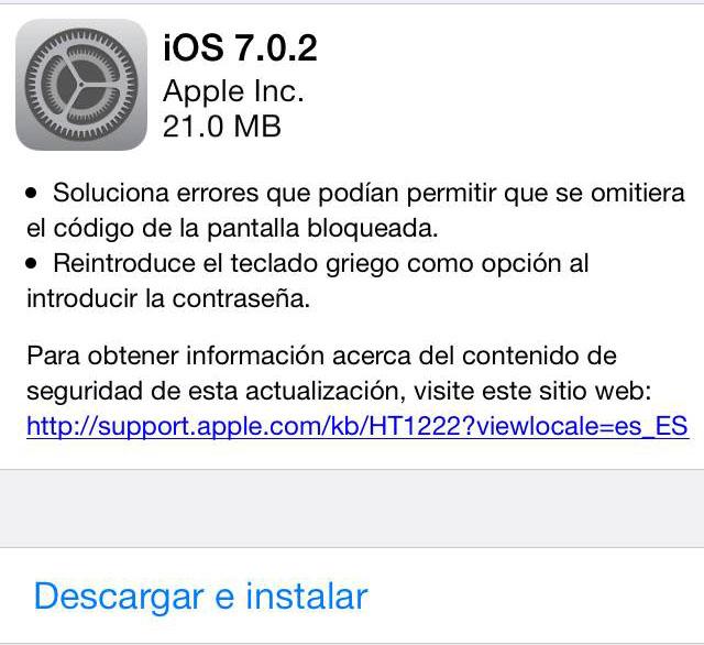 Actualización iOS 7.0.2 es lanzado por Apple - ios-7-0-2