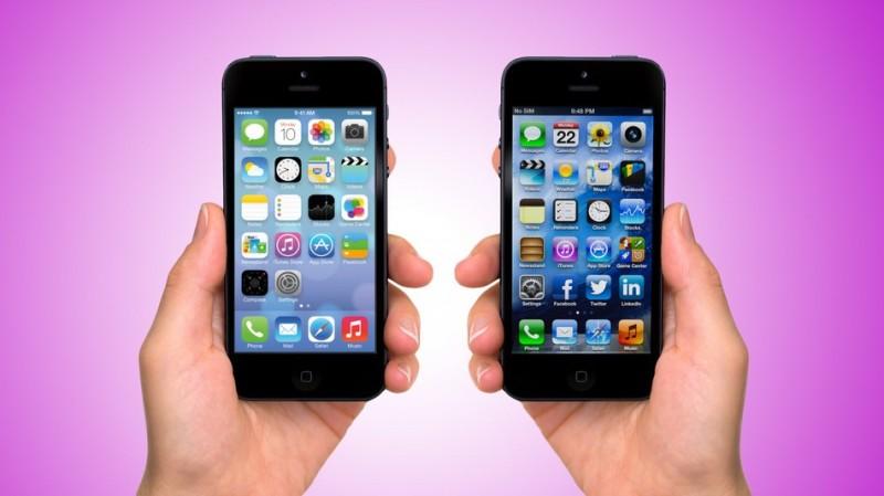 ¿Es posible regresar a iOS 6 desde iOS 7? - ios7-vs-ios61-800x449