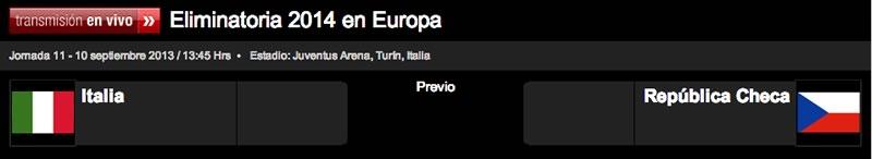 Italia vs República Checa en vivo, Eliminatoria Europea 2014 - italia-republica-checa