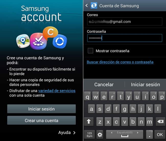 Rastrear tu celular Samsung y bloquearlo a distancia con Findmymobile - samsung-account