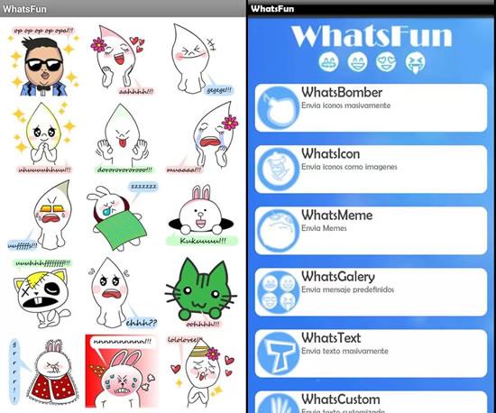 whatsfun smiley Apps para complementar WhatsApp en Android
