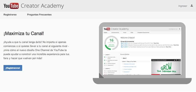 Maximiza tu canal de YouTube con YouTube Creator Academy - youtube-creator-academy