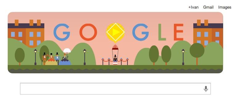 Google celebra a André-Jacques Garnerin, quien realizó el primer salto en paracaídas con un doodle interactivo - Andre-jacques-garnerin-doodle