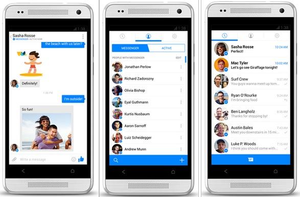 Facebook Messenger Android Facebook Messenger para Android se actualiza radicalmente y adopta un diseño similar a iOS 7