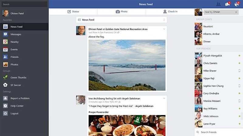 Facebook Windows 8 Rt Facebook para Windows 8 y RT ha sido lanzado oficialmente