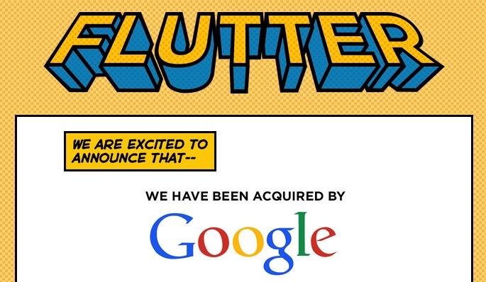 Google compra Flutter Google compra Flutter, empresa encargada al reconocimiento de gestos a través de cámaras
