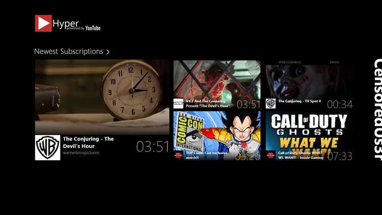 Hyper la mejor aplicación para YouTube de Windows 8 y RT - Hyper