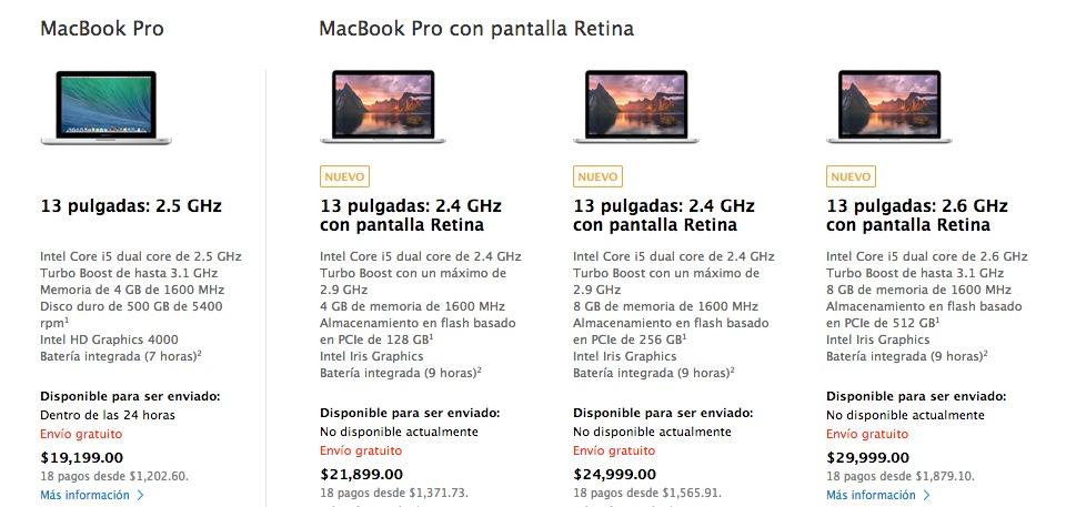 Apple renueva las MacBook Pro de Retina con procesador Haswell de Intel - Precios-MacBook-Pro-Retina