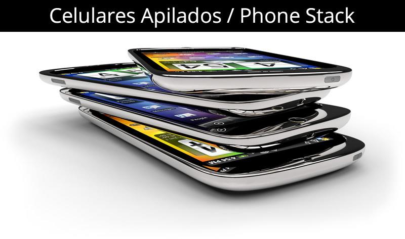 Phone Stack, un juego que deberían practicar en sus reuniones - celulares-apilados-phone-stack-juego