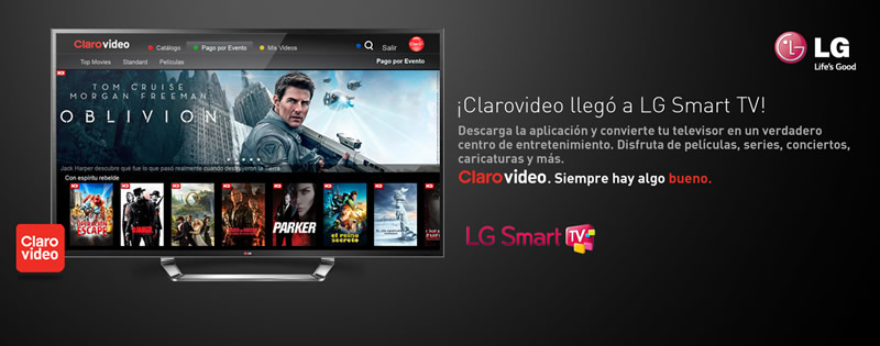 CLAROVIDEO ya disponible para LG Smart TV - clarovideo-lg-smart-tv