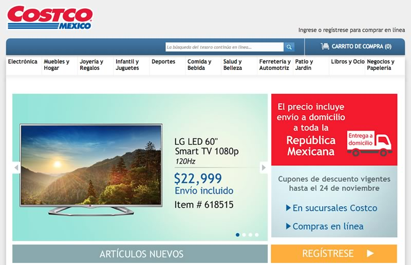 Costco lanza su tienda en línea en México, costco.com.mx - costco-tienda-online