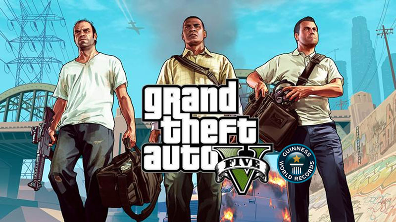 Grand Theft Auto V rompe siete récords Guinness sin mucho esfuerzo - gta-v-record-guinness