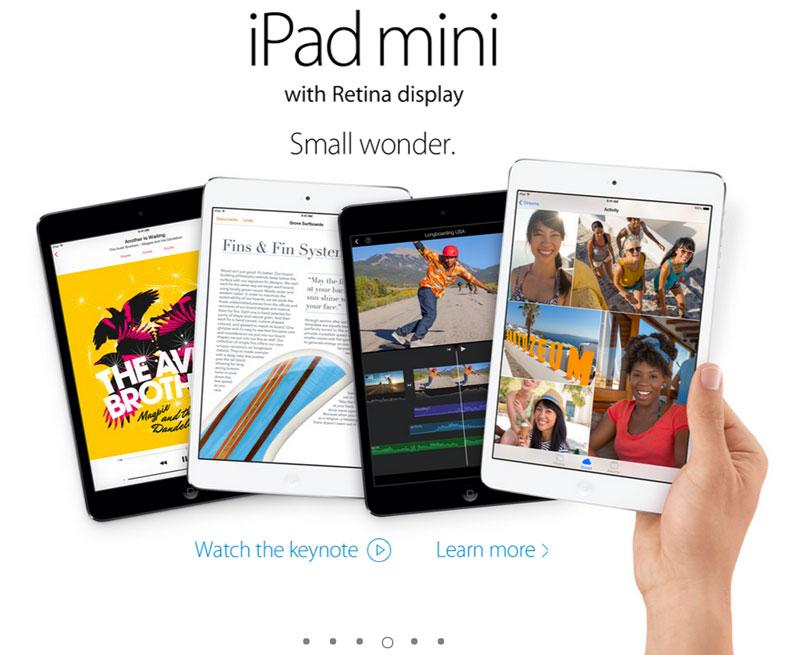 ipad mini retina Apple presenta al nuevo iPad Air y un iPad Mini con Retina Display