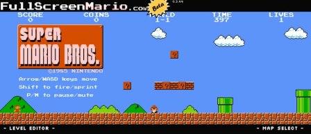 Juega Mario bros online con todos sus niveles originales en Full Screen Mario
