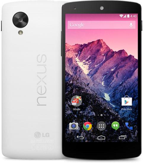 nexus 5 blanco Es oficial: Nexus 5 llega con el mejor hardware posible a un precio de 349 dólares