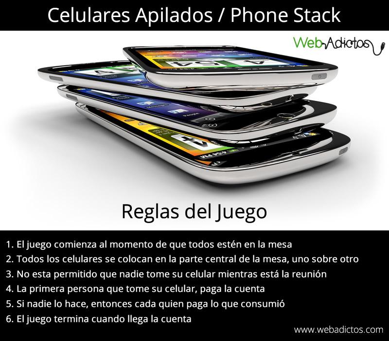 phone stack juego celulares Phone Stack, un juego que deberían practicar en sus reuniones