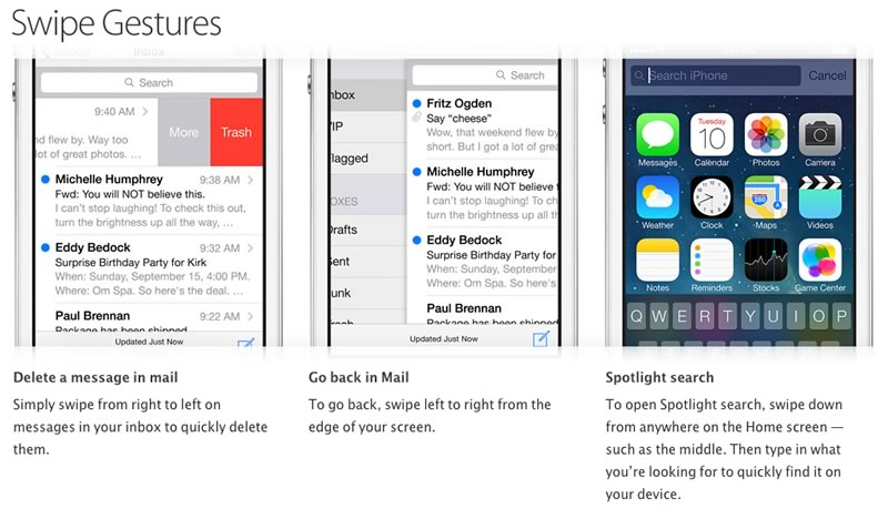 Trucos para iPhone publicados por Apple - trucos-iphone-gestos