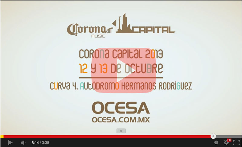Corona Capital 2013 en vivo por Youtube - youtube-corona-capital