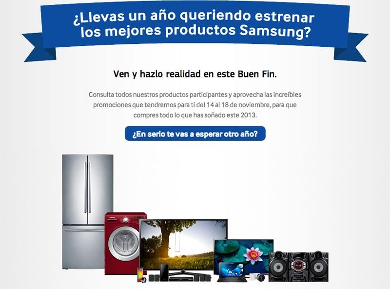 Promociones del Buen Fin 2013 de Samsung - Buen-fin-Samsung