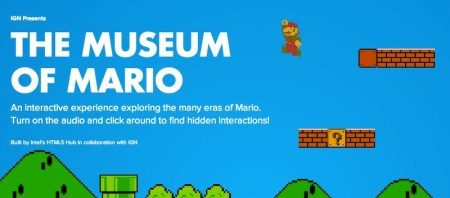 Crean museo virtual de Mario Bros