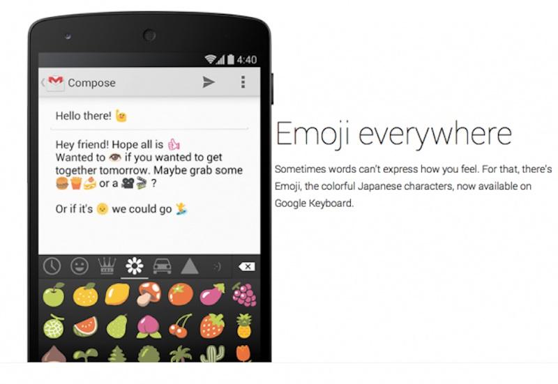 Teclado de Android 4.4 Kit-Kat tiene soporte nativo para Emoji - Teclado-Emoji-Android