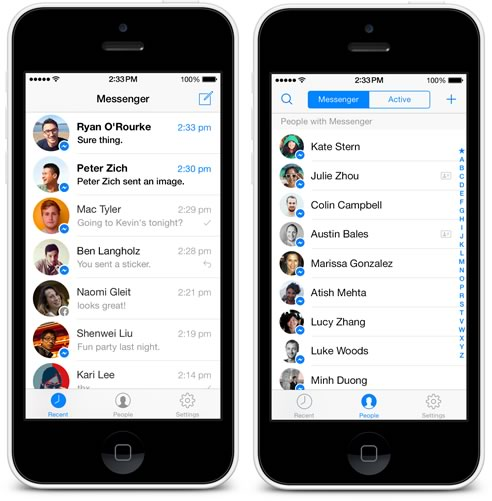 Facebook Messenger se actualiza en iOS y se expande en Android - messenger-facebook-1