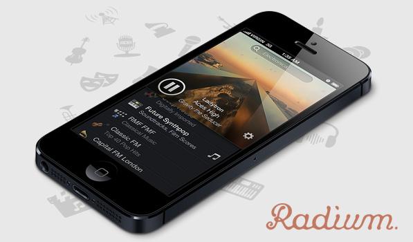 Escuchar radio en iPhone con Radium (gratis por tiempo limitado) - radium-masthead