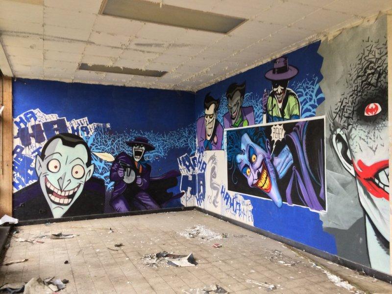 Fabulosos graffitis de Batman encontrados en hospital abandonado - 34