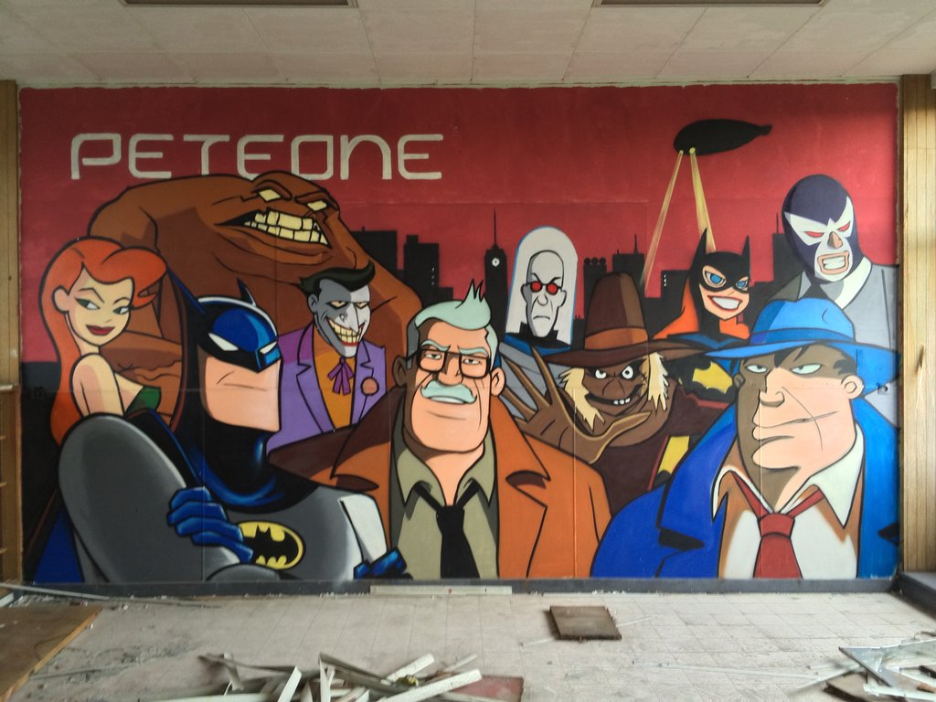 Fabulosos graffitis de Batman encontrados en hospital abandonado - 42