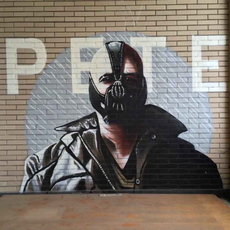 Fabulosos graffitis de Batman encontrados en hospital abandonado - 52