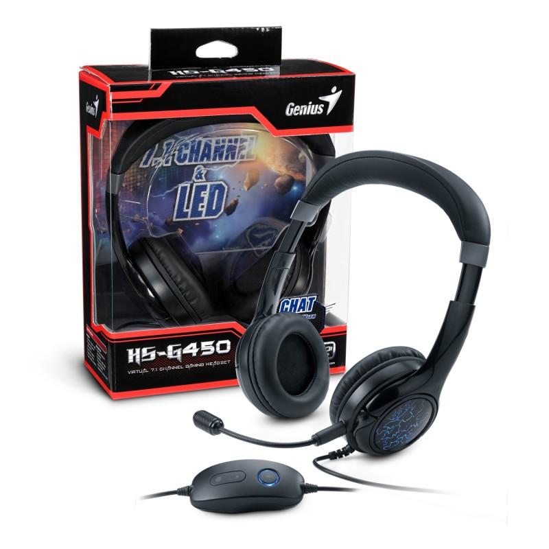 Auriculares virtuales para juegos con sonido surround, HS-G450 7.1 de Genius - HS-G450-Gift-Box-3D-02-800x800