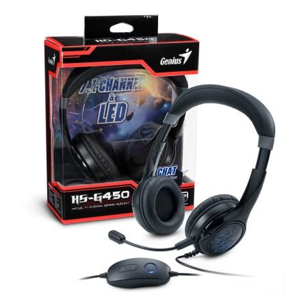 Auriculares virtuales para juegos con sonido surround, HS-G450 7.1 de Genius