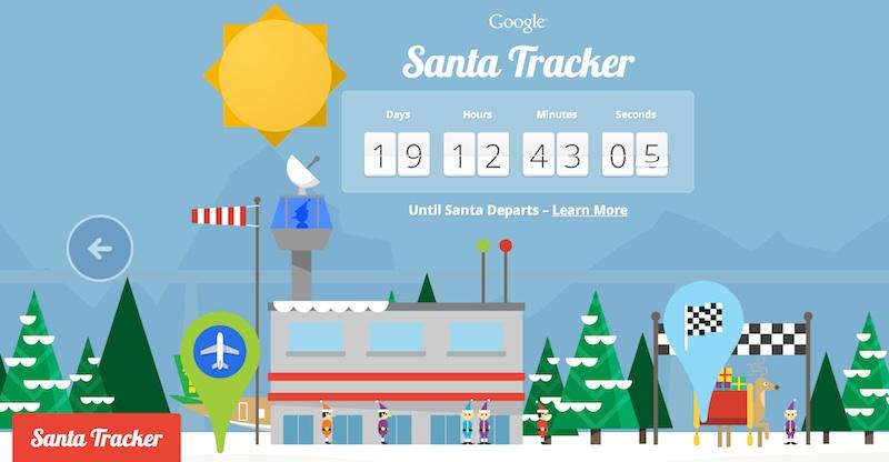 Rastreador de santa Sigue a Santa hasta la Navidad con Google y su rastreador