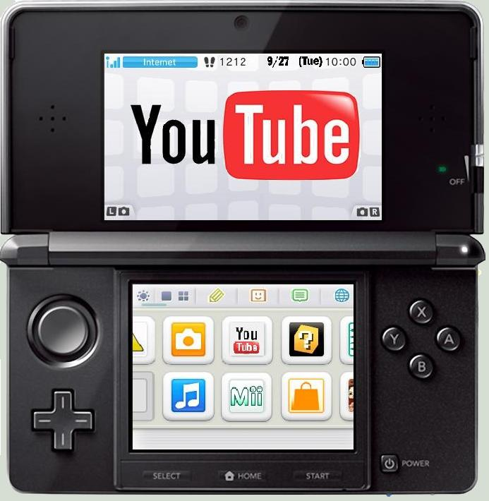 YouTube app Nitendo 3ds Aplicación de YouTube para Nintendo 3DS por fin es lanzada