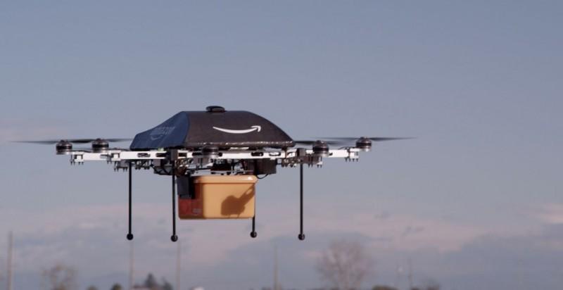 Amazon planea entrega de paquetes en menos de 30 minutos utilizando drones - amazon-drone-octocopter-800x412