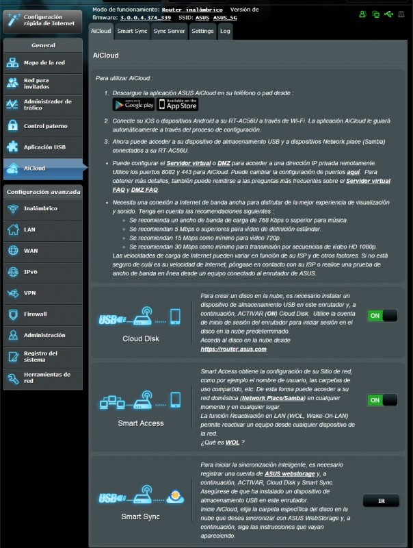 Router ASUS RT-AC56U [Reseña] - interfaz6-604x800