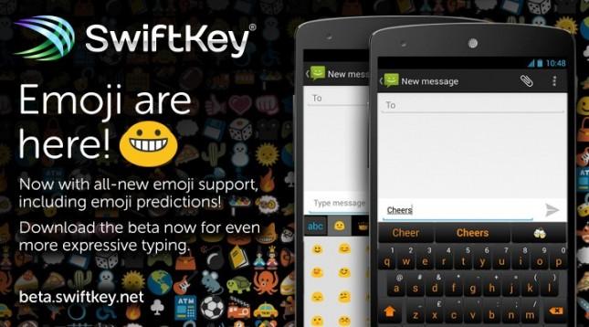 Swiftkey 4.5 Beta, añade soporte nativo para Emojis - swiftkey-emoji-645x358